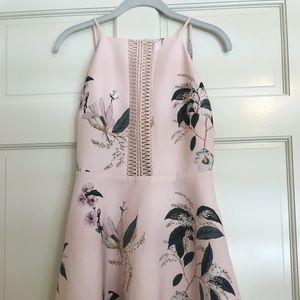 Keepsake flower mini dress